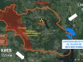 Появилась карта масштабных лесных пожаров в Чернобыльской зоне