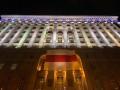 На здании КГГА повесили флаг белорусского протеста