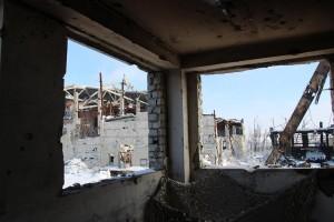 Последствия обстрелов боевиками шахты Бутовка
