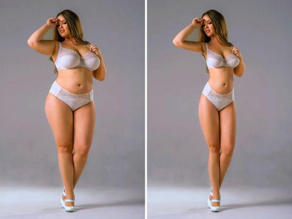 Отфотошопленные снимки толстушек, призванные мотивировать к похудению