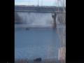 В Киеве из моста Патона повалил горячий пар
