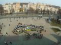 В Черкассах сделали живую карту Украины