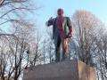 В Петербурге памятник Ленину облили краской