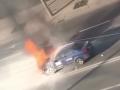 В Киеве на ходу загорелся Uber