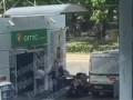 В Киеве байкер и инкассаторы не поделили дорогу и подрались