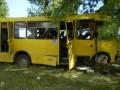В Черкасской области автобус врезался в дерево, у водителя произошел сердечный приступ