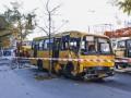 В Киеве маршрутка протаранила столб, есть пострадавшие