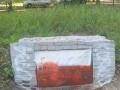 В Харькове второй раз за неделю вандалы облили красной краской памятник УПА