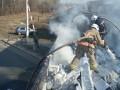 На Прикарпатье во время движения загорелся грузовой поезд