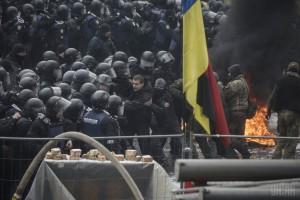 Митинг и стычки под Радой 16 января