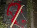 В Киеве повредили мемориал украинским националистам