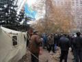 В Донецке разгоняют палаточный городок: от сердечного приступа скончался митингующий