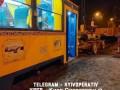 В Киеве слетел с рельсов экскурсионный трамвай