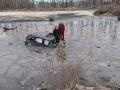 Пьяный водитель отправил автомобиль в пруд на Полтавщине