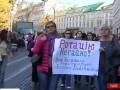 В центре Львова перекрыли дорогу, требуя ротации участников АТО