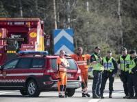 В Швеции перевернулся автобус с туристами