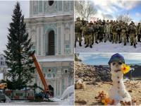 День в фото: Порошенко на Донбассе, установка елки в Киеве и снег на Гавайях