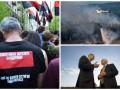 День в фото: Пожары в Чернобыле, митинг Правого сектора и Кличко в Вашингтоне