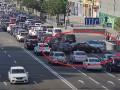 На Крещатике столкнулись сразу 5 авто: Опубликовано видео ДТП