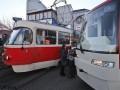 В Киеве в районе Лукьяновки было парализовано движение трамваев