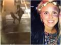 Появилось видео, как женщина ногой остановила преступника