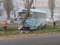 В Одессе трамвай с пассажирами сошел с рельсов
