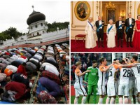 День в фото: молитва мусульман, королевская семья и победа Шахтера