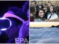 День в фото: Туман в Швейцарии, селфи с президентом и очки виртуальной реальности