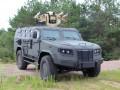 На Гончаровском полигоне представили броневик Козак-2М с новым боевым модулем