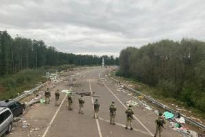 Хасиды покинули КПП Яриловичи: МВД показало последствия их пребывания