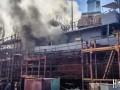 В Николаеве загорелся корабль ВМС Украины