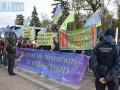 Учителя вышли на акцию протеста к Верховной Раде