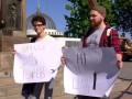 Блокировка ВКонтакте: в Одессе два человека вышли на протест