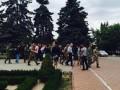 Участники АТО подрались с милицией в горсовете Ильичевска