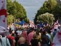 Жена Саакашвили возглавила протестный марш в Тбилиси