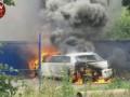 В Киеве на Виноградаре сожгли лимузин