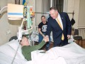 В Киеве Помпео посетил военных в госпитале