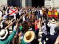В Испании правые протестовали против выноса останков Франко из мавзолея