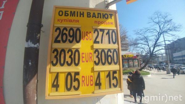 На теневом рынке в Украине доллар можно купить по 27,10 грн утром, 2 апреля