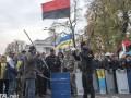 Под Радой произошла потасовка между митингующими и полицией