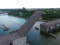 Развод мостов в Николаеве показали с высоты