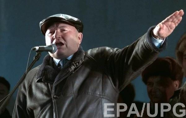 Юрий Лужков во время выступления в Москве