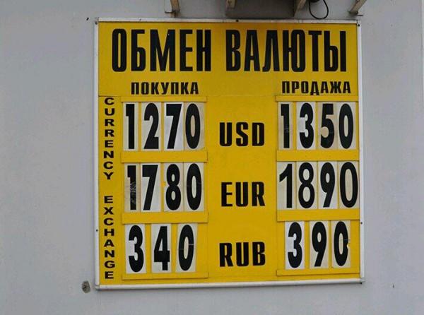 Курс обмена валют (доллар, евро) в Санкт-Петербурге