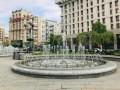 На Майдане в Киеве запустили фонтаны