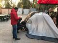Мэр Ирпеня поставил палатку под прокуратурой