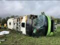 Во Франции перевернулся автобус, более 30 пострадавших
