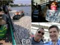 День в фото: Украинки, поддержавшие черный протест, мертвая рыба во Вьетнаме и Шварцнеггер на селфи с шефом полиции