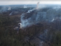 Пожар и взрывы в районе Калиновки показали с высоты