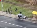 В Киеве автомобиль влетел в остановку