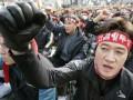 Десятки тысяч железнодорожников вышли на акцию протеста в Южной Корее